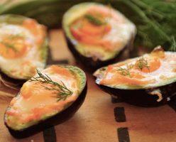 Baked Smoked Salmon & Avocado Egg Cups