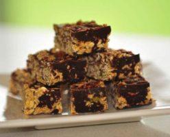 Chocolate Oat Fudge Bars