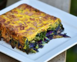 Egg and Bacon, Cabbage, Kale Pie