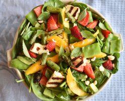 Haloumi, Asparagus and Mango Salad
