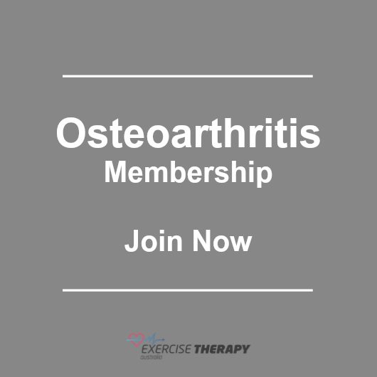 osteoarthritis exercise and fitness