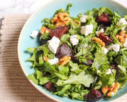 Balsamic Glazed Beetroot & Goats Cheese Salad
