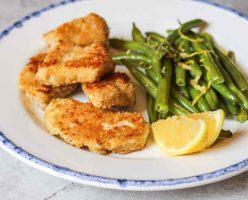 Fish Nuggets With Garlic & Lemon Beans