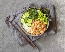 Green Sushi Salad With Crispy Tofu