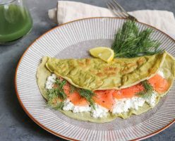 Parsley Crepes With Smoked Salmon