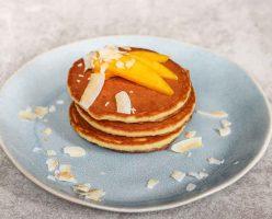 Simple Easy Mango Coconut Pancake Recipe